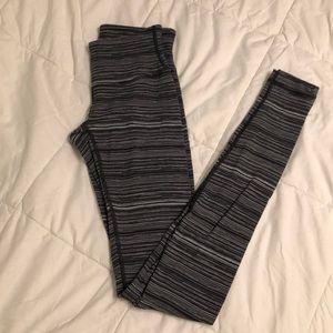 Grey stripped Lululemon leggings
